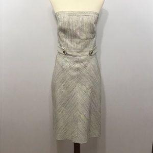 Trina Turk womens strapless sheath dress size 6